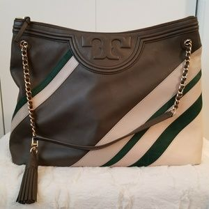 Tory Burch Fleming Stripped Tote